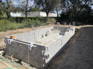 Construction d'une piscine maçonnée