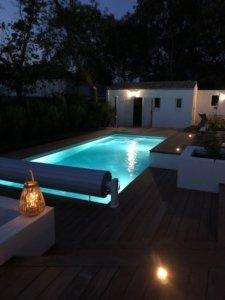 Local technique et piscine maçonnée